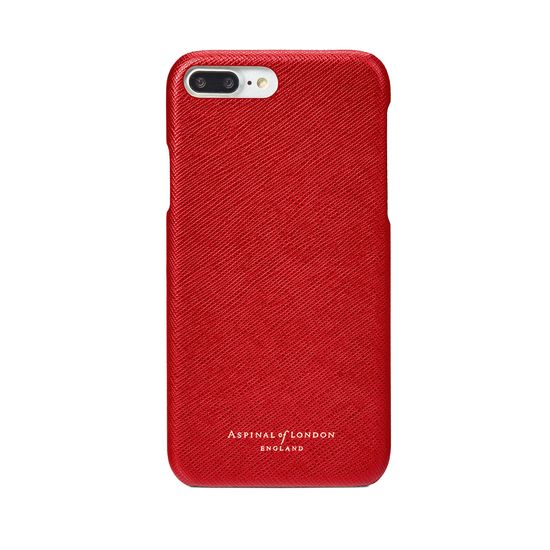 iPhone 7 Plus Leather Cover in Scarlet Saffiano from Aspinal of London