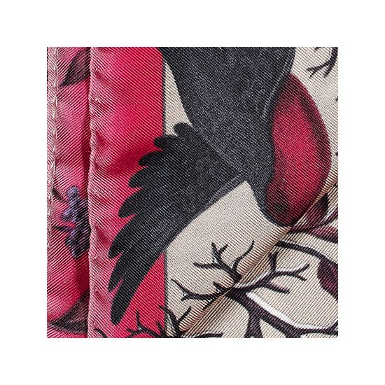Robin Silk Twill Handkerchief in Magenta from Aspinal of London