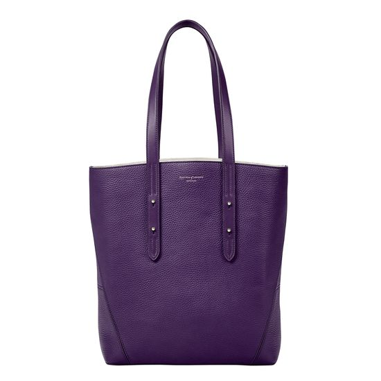 Essential Tote in Amethyst Pebble from Aspinal of London