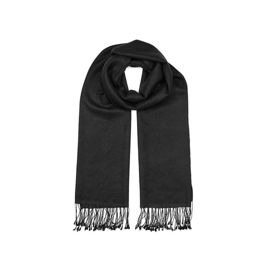 Essential Silk & Cashmere Pashmina in Black from Aspinal of London
