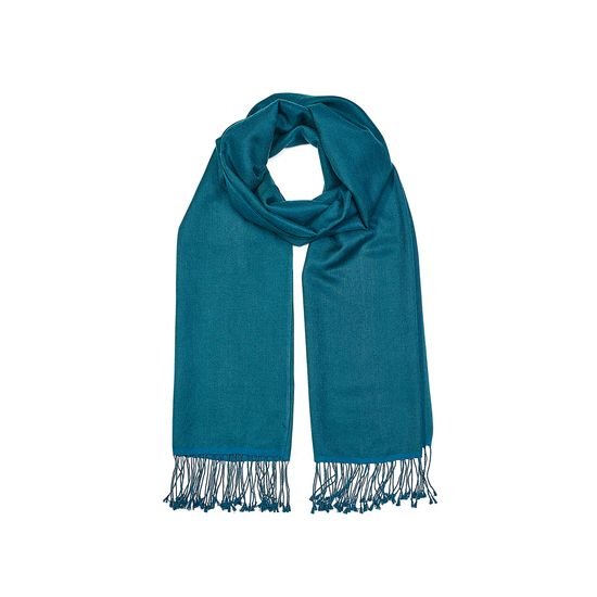 Essential Silk & Cashmere Pashmina in Topaz from Aspinal of London