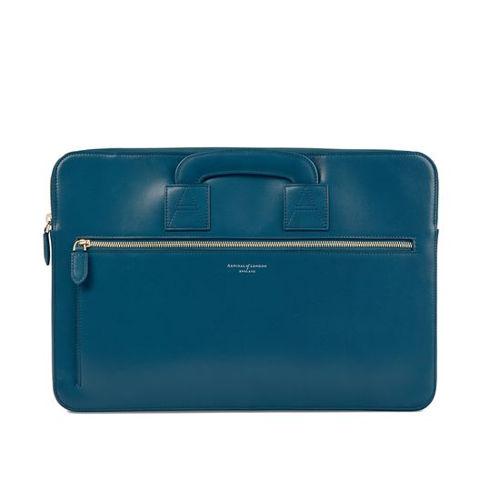 Connaught Document Case in Smooth Topaz from Aspinal of London