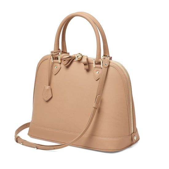 Hepburn Bag in Smooth Deer from Aspinal of London