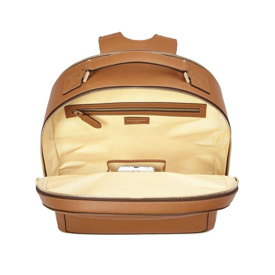 Large Mount Street Backpack in Smooth Tan from Aspinal of London