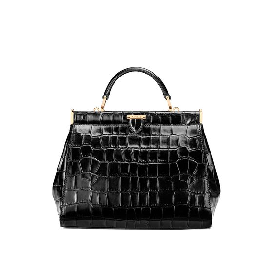 e11148432c244 ... Small Florence Frame Bag in Black Croc from Aspinal of London ...