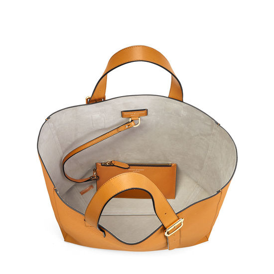 Editor's 'A' Tote in Mustard Saffiano from Aspinal of London