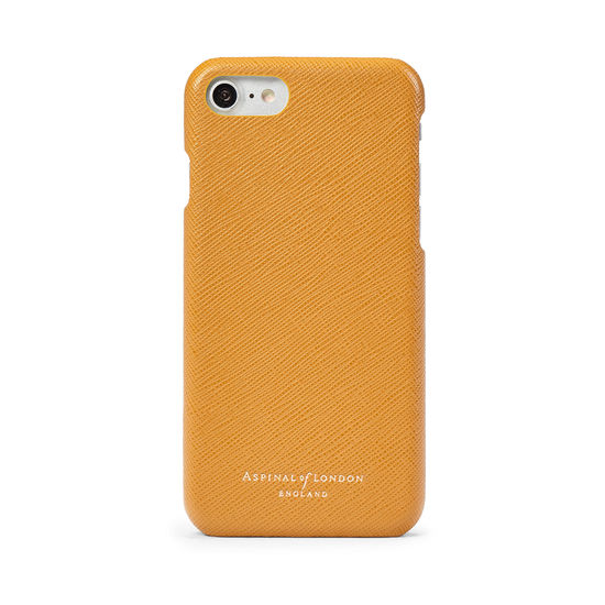 iPhone 7/8 Leather Cover Mustard Saffiano from Aspinal of London