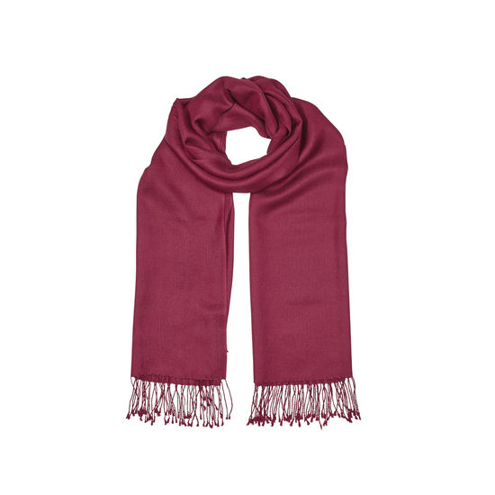 Essential Silk & Cashmere Pashmina in Burgundy from Aspinal of London