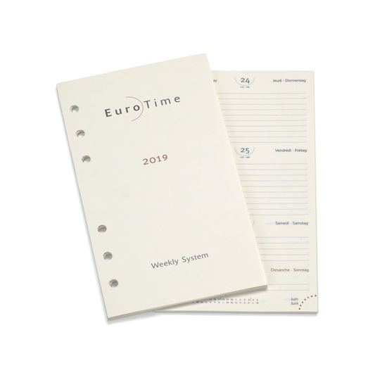 2019 Diary Insert for Compact Personal Organiser from Aspinal of London