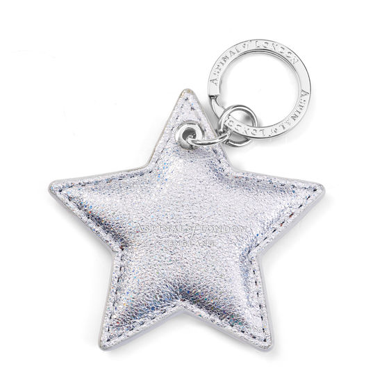 Star Keyring in Smooth Shooting Star from Aspinal of London