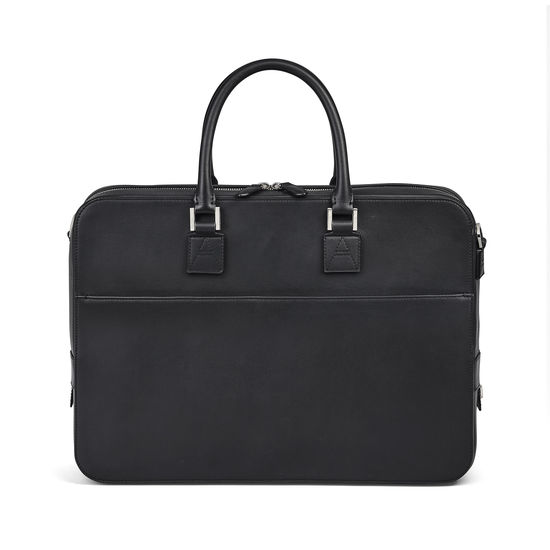 Small Mount Street Bag in Smooth Black from Aspinal of London