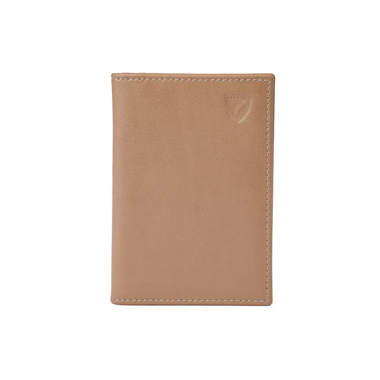 Double Fold Credit Card Case in Smooth Camel from Aspinal of London
