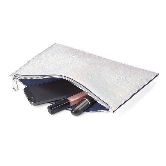 Large Essential Flat Pouch in Smooth Shooting Star from Aspinal of London