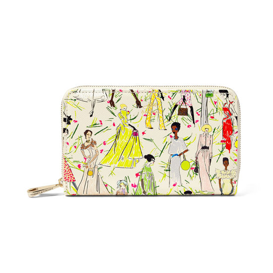 Giles x Aspinal (Midi Continental Purse - Girls Print) from Aspinal of London
