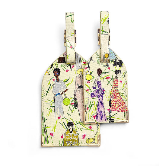 Giles x Aspinal (Set of 2 Luggage Tags - Girls Print) from Aspinal of London
