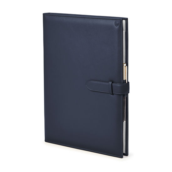 A4 Padfolio in Smooth Bluemoon from Aspinal of London