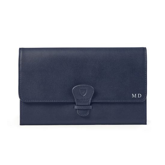 Classic Travel Wallet in Smooth Bluemoon from Aspinal of London