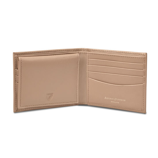Large ID Wallet in Smooth Camel from Aspinal of London