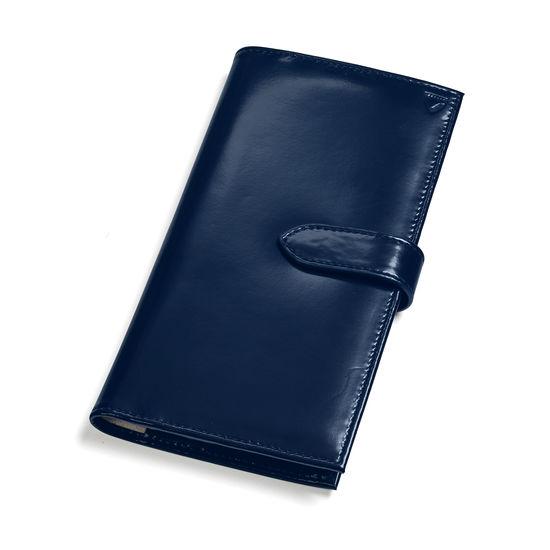 Lindberg Travel Wallet in Bluemoon Polish from Aspinal of London