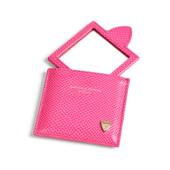 Compact Mirror in Raspberry Lizard from Aspinal of London