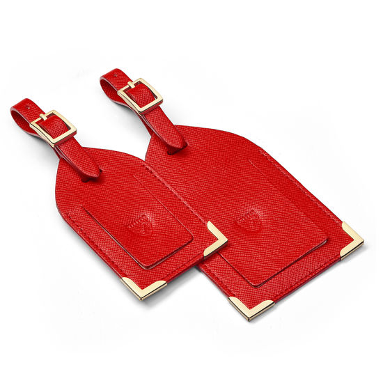 Classic Travel Collection in Scarlet Saffiano from Aspinal of London