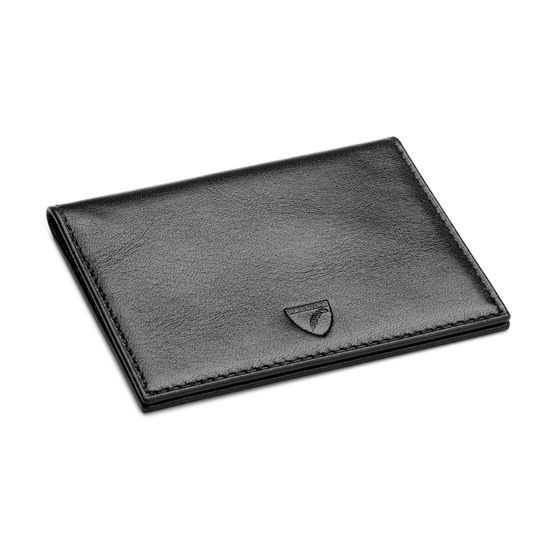 ID & Travel Card Case in Black Pebble from Aspinal of London