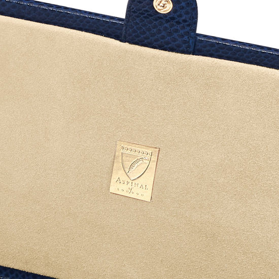 Paris Jewellery Box in Midnight Blue Lizard from Aspinal of London