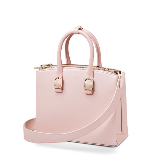 Midi Madison Tote in Peony Saffiano from Aspinal of London