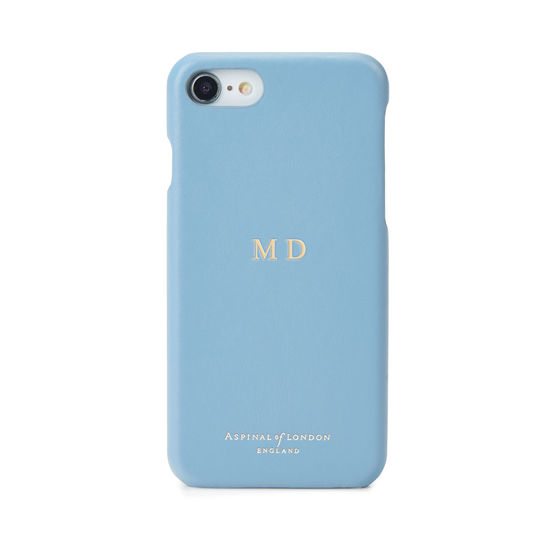 iPhone 7/8 Leather Cover in Smooth Bluebird from Aspinal of London
