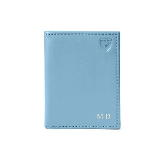 ID & Travel Card Case in Smooth Bluebird from Aspinal of London