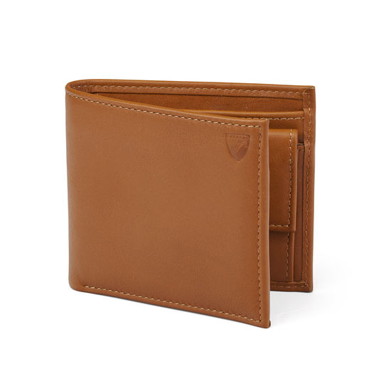 Billfold Coin Wallet in Smooth Tan from Aspinal of London
