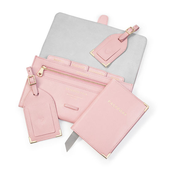1cd06074ed2f Classic Travel Collection in Peony Saffiano from Aspinal of London ...