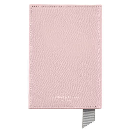 Passport Cover in Peony Saffiano from Aspinal of London