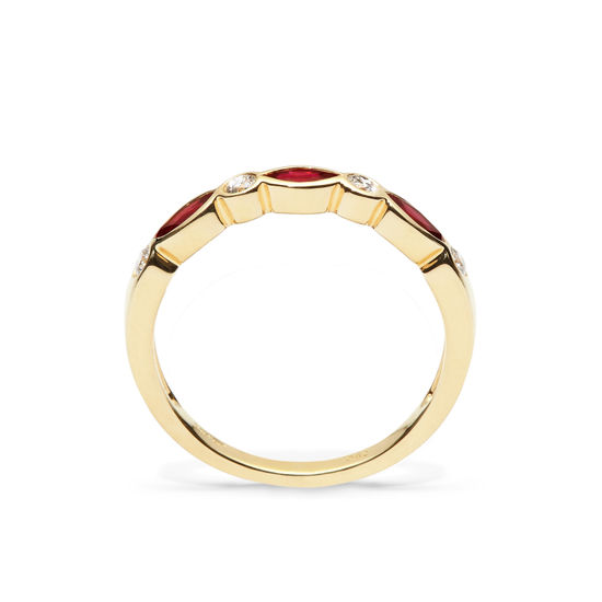Selene 18ct Gold Marquise Ruby & Diamond Ring from Aspinal of London