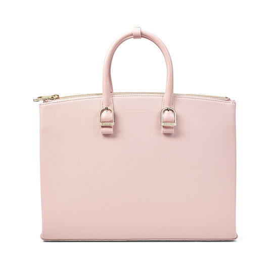 Madison Tote in Peony Saffiano from Aspinal of London