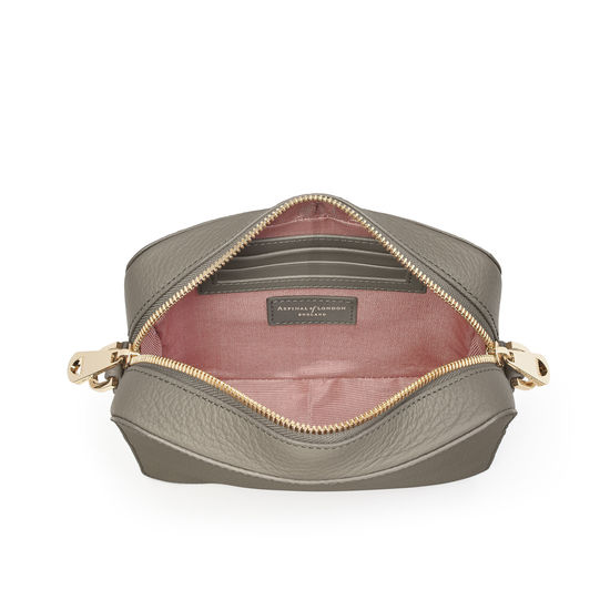 Camera Bag in Warm Grey Pebble from Aspinal of London