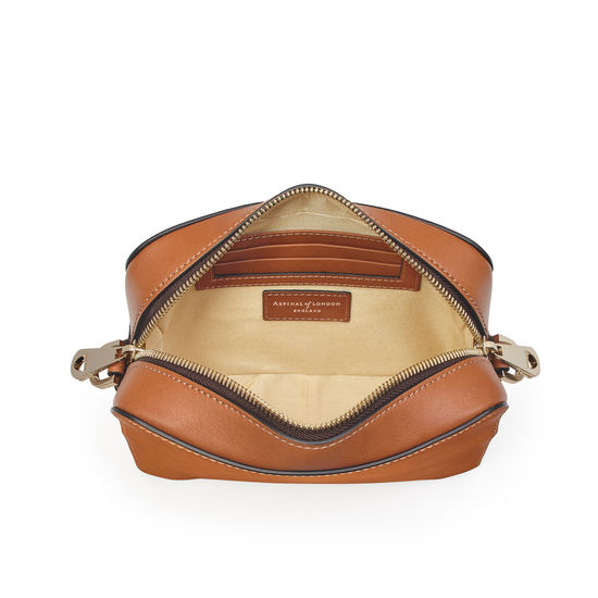 Camera Bag in Smooth Tan from Aspinal of London