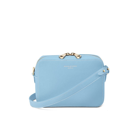 Camera Bag in Bluebird Saffiano from Aspinal of London