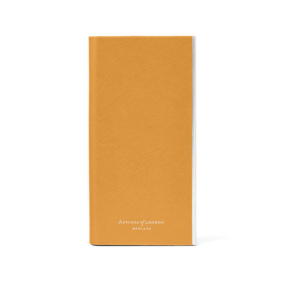iPhone 7/8 Leather Book Case in Mustard Saffiano from Aspinal of London