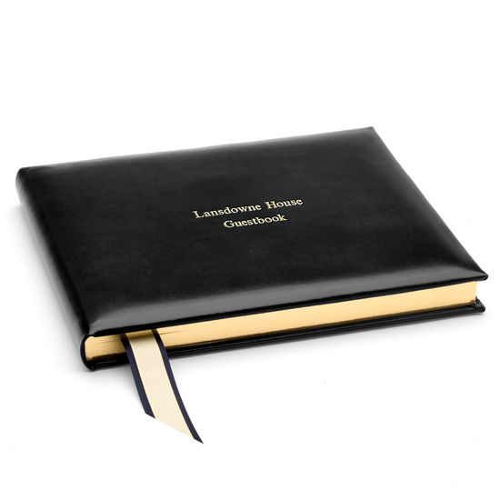 Classic Guest Book in Black from Aspinal of London