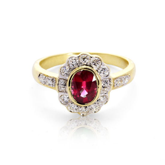 Debutante Ruby & Diamond Ring from Aspinal of London