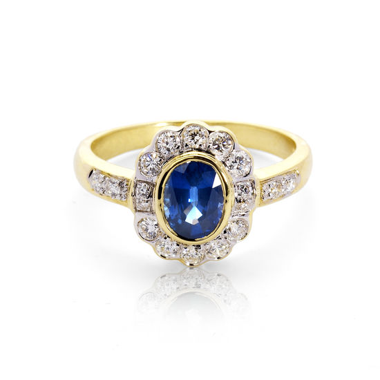 Debutante Sapphire & Diamond Ring from Aspinal of London