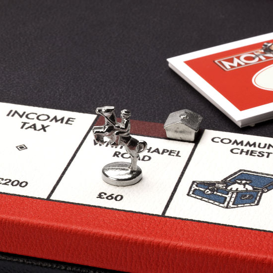 Monopoly Set in Red & Black from Aspinal of London