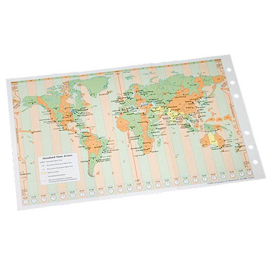 Compact Organiser World Map Insert from Aspinal of London
