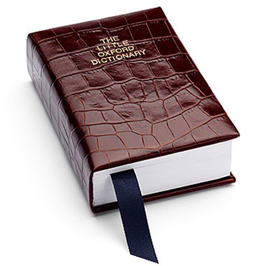 Oxford English Dictionary in Deep Shine Amazon Brown Croc from Aspinal of London