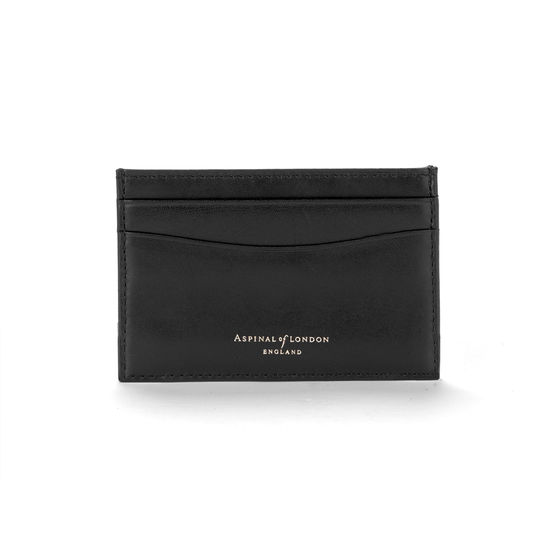 c762c0c09cf ... Slim Credit Card Case in Smooth Black   Red Suede from Aspinal of London  ...