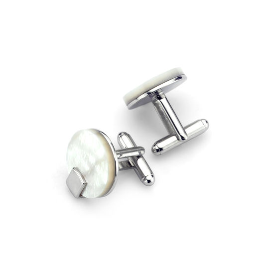 Full Moon Mother of Pearl Cufflinks from Aspinal of London
