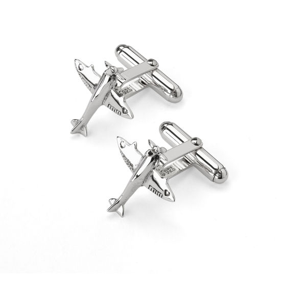 Sterling Silver Spitfire Cufflinks from Aspinal of London