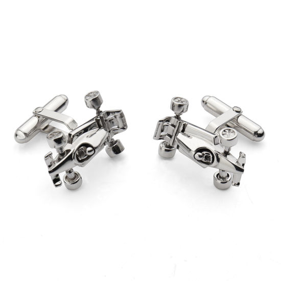 Sterling Silver Racing Car Cufflinks from Aspinal of London