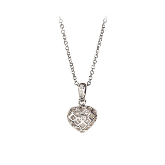 Mon Chere 0.6ct. Diamond Heart Pendant Necklace from Aspinal of London